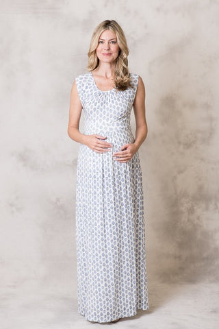 Ellie Flora Maternity Rayon Maxi Dress