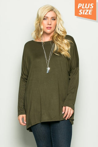 Long Sleeve Plus Size Top