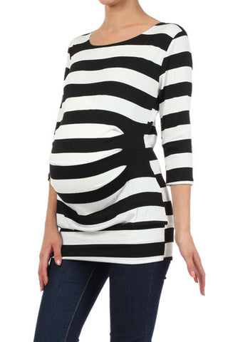 Stripe Maternity Top