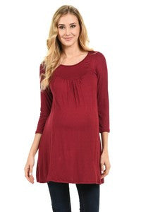 Burgundy Maternity Top