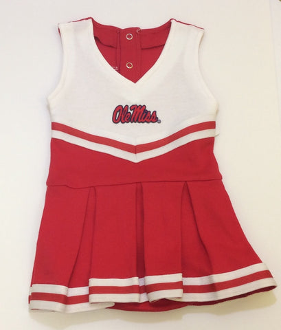 Mississippi Ole Miss Rebels NCAA Newborn Infant Baby Cheerleader Bodysuit Dress