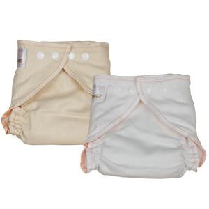 OsoCozy Fitted Diaper- Medium Bleached