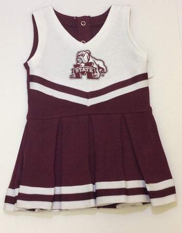 Mississippi State NCAA Newborn Infant Baby Cheerleader Bodysuit Dress