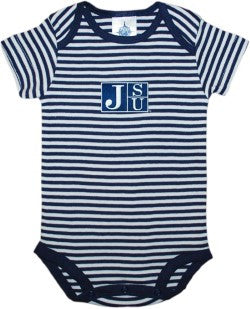 NCAA Licensed Jackson State University  Striped Onesie Creeper Crawler