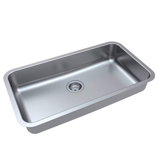 "ZUHNE Milan Undermount ADA Handicap Kitchen Sink Stainless Steel (32"" by 19"" by 5.5"" Single Bowl)"