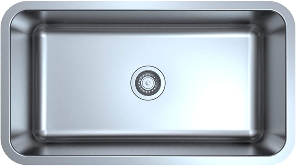 "ZUHNE Milan Undermount Kitchen Sink Stainless Steel (32"" by 18"" by 9"" Single Bowl)"