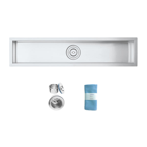 Oban 42 inch Undermount 16 Gauge Stainless Steel Trough Wet Bar or Prep Sink