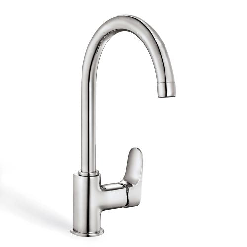 ZUHNE Zephyr Kitchen, Bar, Prep, RV, Utility and Laundry Mixer Faucet, Chrome (Made in Europe)