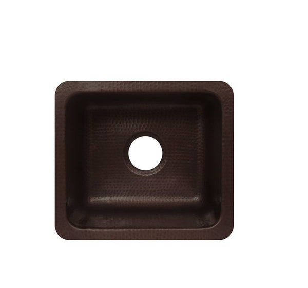 Antica 17 Copper Undermount Kitchen Sink Single Bowl