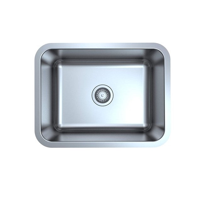 "ZUHNE Milan Undermount Kitchen Laundry Utility Sink Stainless Steel (23"" by 18"" by 9"" Single Bowl)"