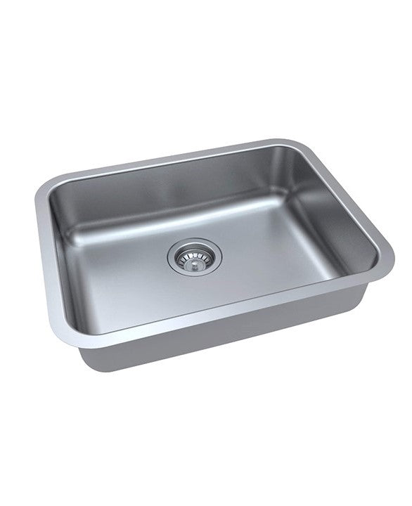 "ZUHNE Milan Undermount ADA Handicap Kitchen Sink Stainless Steel (23"" by 18"" by 5.5"" Single Bowl)"