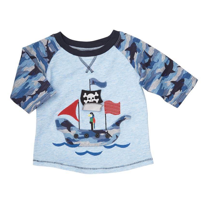 Mud Pie boys Pirate camo shirt