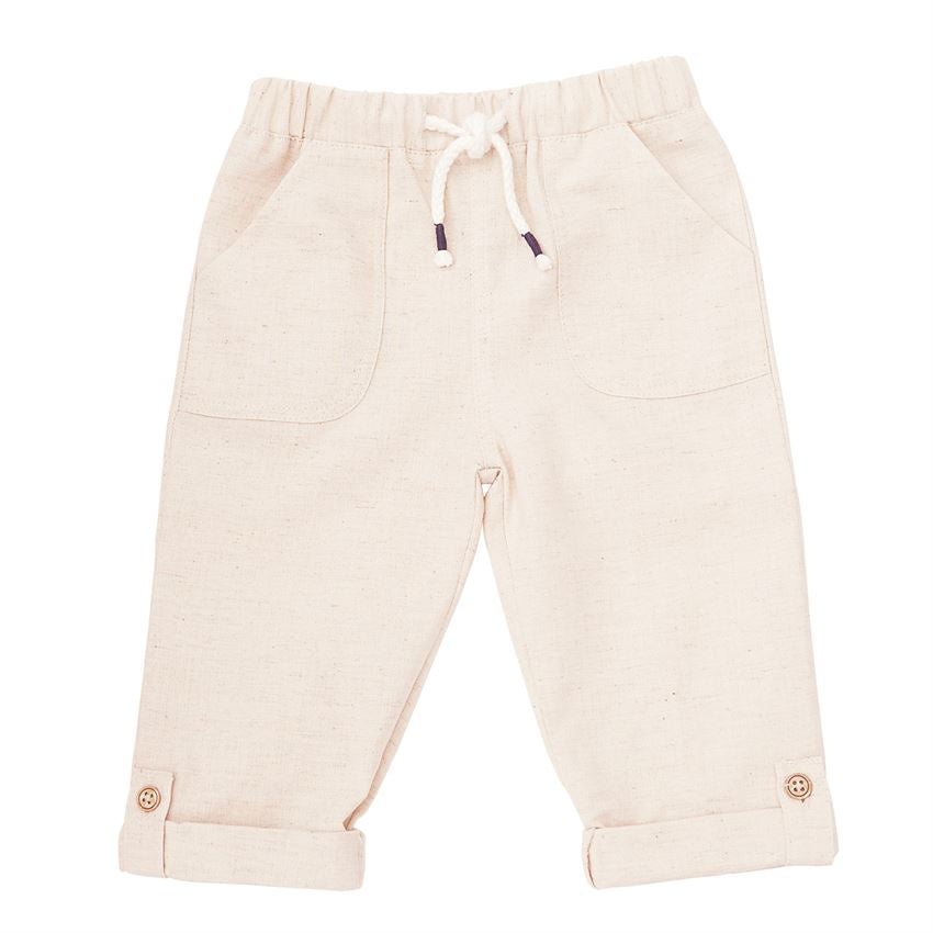 Mud Pie Boys Pull On Linen Pants Cache For Kids