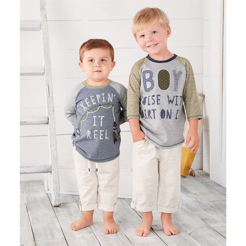Mud Pie boys pull on linen pants