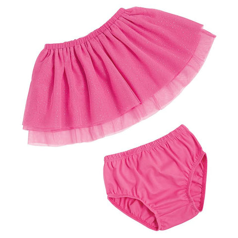 Mud Pie Pink Mesh Skirt with Bloomers