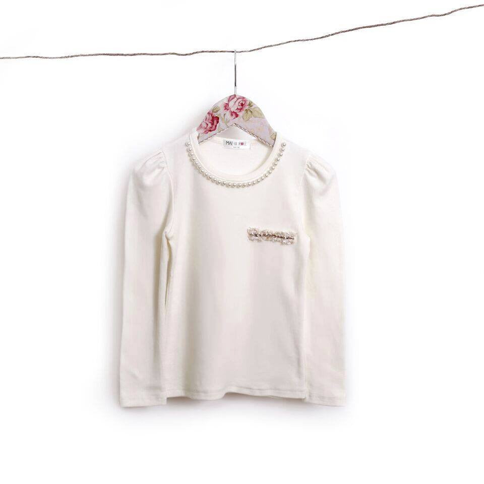 Mae Li Rose Ivory Pearl Top - Cache For Kids