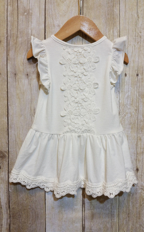 MLK fashions Lace ruffle top with stunning back detail - Cache For Kids