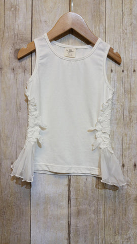 MLK fashions white lace tank