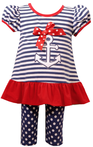 Bonnie Jean Anchors Away Legging Set