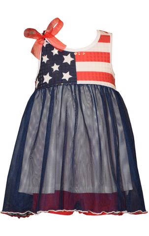 Bonnie Jean Sparkle Flag Dress Infant