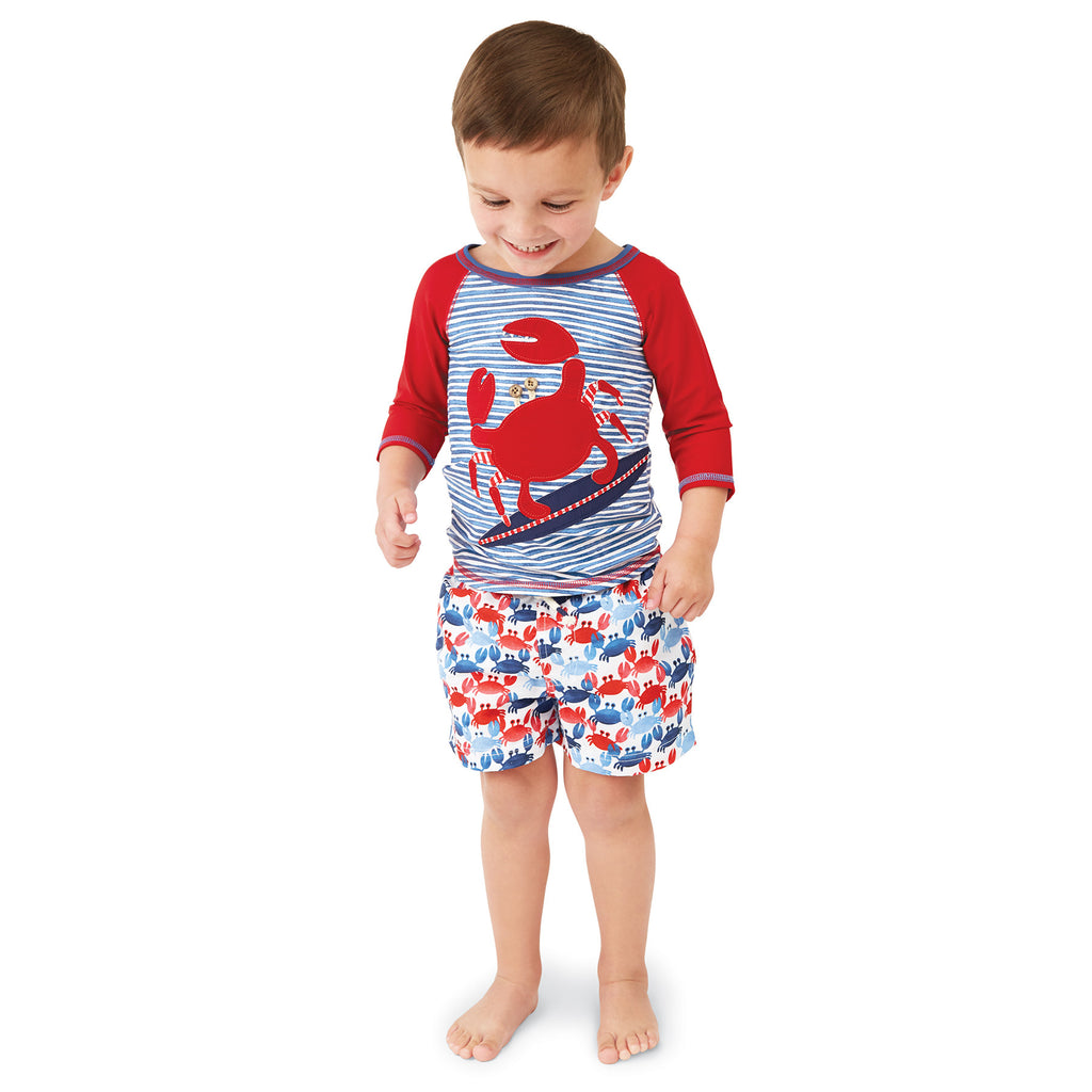 Mud Pie Crab Swim trunks