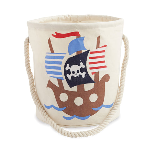 Mud Pie Pirate Ship Canvas Bucket