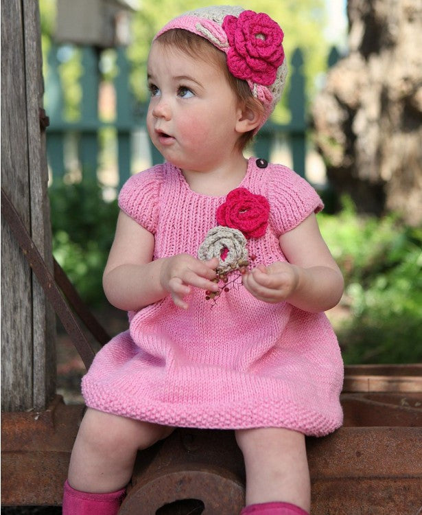 Handmade Pink Knit Dress