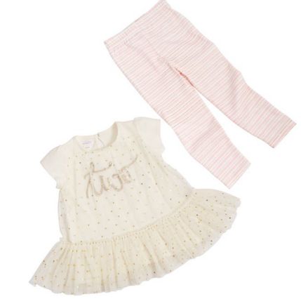 Mud Pie Birthday Princess Legging Set (Two yrs)
