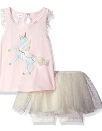 Mud Pie unicorn skirt set