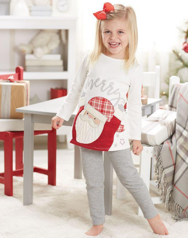 Mud Pie Santa legging set