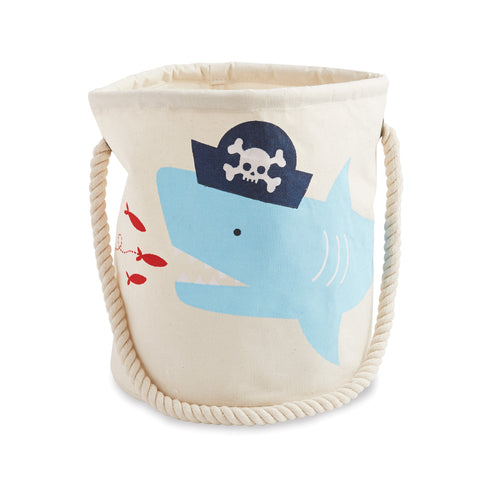 Mud Pie Boy Whale Pirate Canvas Bucket
