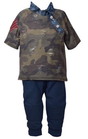 Matt Scotter Camo collar jogger pant set