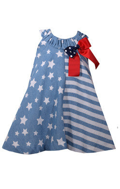 Bonnie Jean stars and stripes float dress