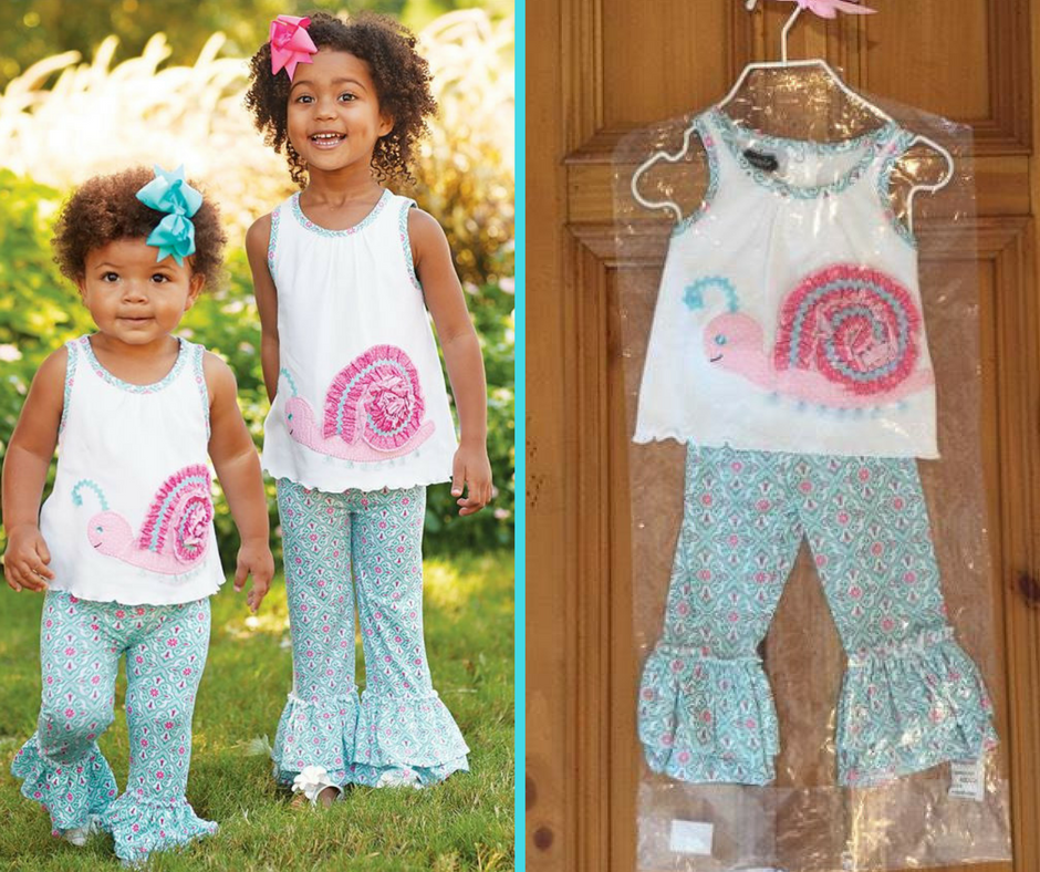 mud pie snail legging set