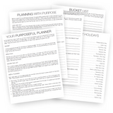 Purpose Babe Printable Business Planner