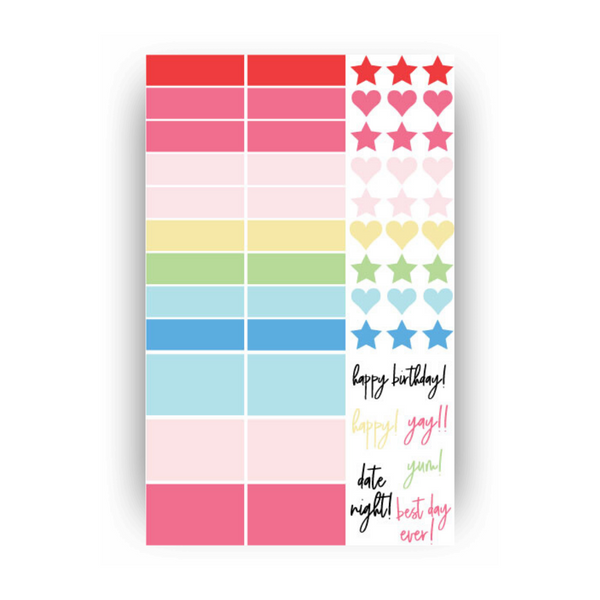 Colorful Sticker Set
