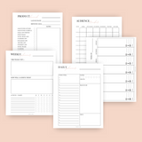 Purposeful Planner + Business Planner Printable Bundle (Perpetual)