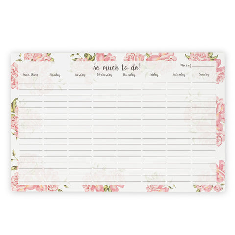 The Desk Collection - So Much To Do Desk Pad - Holly Floral