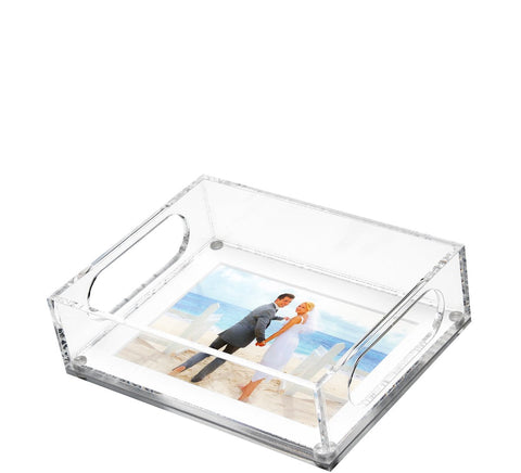 "Small Photo Tray - White Mat 6.5"" x 8.5"""