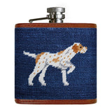 Hand Embroidered Flask