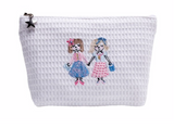 Small Straight Top Waffle Cosmetic Bags