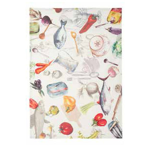Sardine Linen Tea Towel