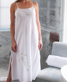 Jane- Cascading Flowers Embroidered Nightgown