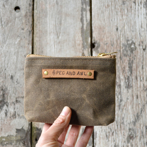 Small Waxed Canvas Pouch