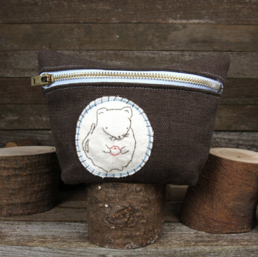 Hemp Stand-up Zipper Pouch