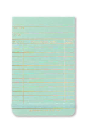 Library Card Note Pad