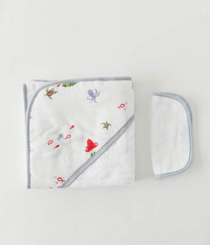 Cotton Hooded Towel and Wash Cloth