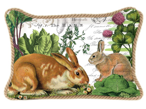 Garden Bunny Rectangular Pillow