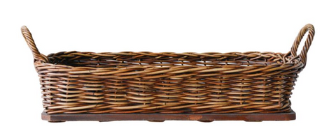Arurog Woven Basket with Wood Base