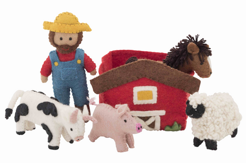 Felted Farmyard Playset